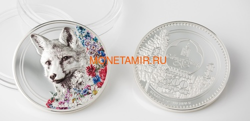 Монголия 500 Тугриков 2018 Лиса серия Woodland Spirits (Mongolia 500T 2018 Woodland Spirits Fox).Арт.60 (фото, вид 2)