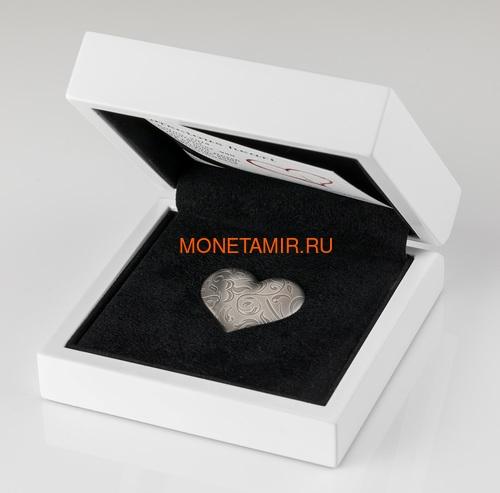 Палау 5 долларов 2018 Серебряное Сердце (Palau 5$ 2018 Silver Heart).Арт.60 (фото, вид 3)