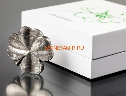 Палау 5 долларов 2018 Клевер Серебряная Удача (Palau 5$ 2018 Clovers Silver Fortune).Арт.60 (фото, вид 3)