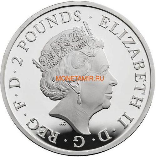 Великобритания 2 фунта 2018 Красный Дракон Уэльса серия Звери Королевы (GB 2£ 2018 Queen's Beast Dragon).Арт.000578555788/60 (фото, вид 1)