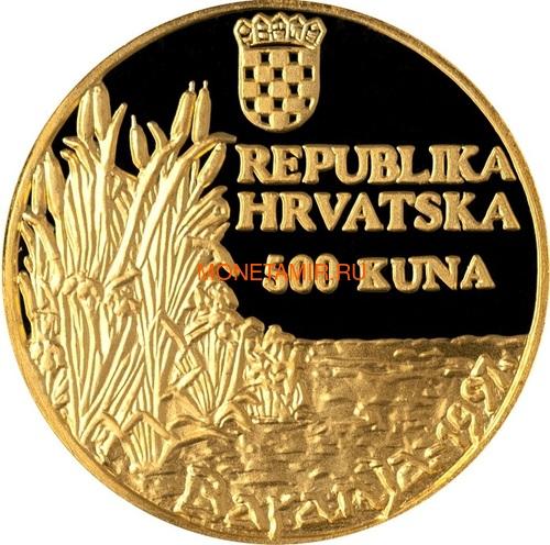 Хорватия 150 + 500 кун 1997 Баранья Орлан-белохвост Набор 2 монеты (Croatia 500+150 Kuna 1997 Baranja Orao Stekavac Gold Silver Set).Арт.000475016629K2,5/60 (фото, вид 4)