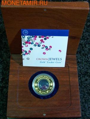 Острова Кука 100 долларов 2002.Сокровища Короны - Crown Jewels.Арт.2700D (фото, вид 1)
