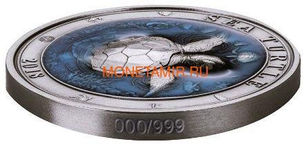 Барбадос 5 долларов 2018 Морская Черепаха Подводный Мир (Barbados 5$ 2018 Sea Turtle Underwater World).Арт.60 (фото, вид 1)