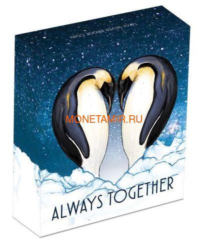Тувалу 50 центов 2018 Пингвины Всегда вместе (Tuvalu 0,5$ 2018 Always Together Penguin).Арт.60 (фото, вид 3)