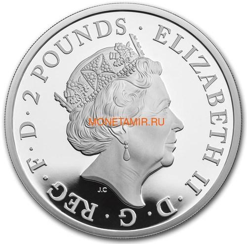 Великобритания 2 фунта 2018 Черный Бык Кларенса серия Звери Королевы (GB 2£ 2018 Queen's Beast The Black Bull of Clarence).Арт.000553355794/60 (фото, вид 1)