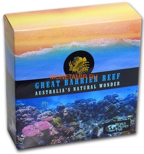 Ниуэ 10 долларов 2018 Большой Барьерный Риф Черепаха Осьминог РыбаМолот Морская Звезда (Niue 10$ 2018 Niue 10$ 2018 Great Barrier Reef Australia`s Natural 5oz).Арт.60 (фото, вид 4)