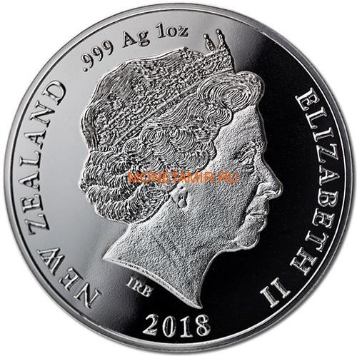 Новая Зеландия 1 доллар 2018 Кашалот Кит (New Zealand 1$ 2018 Sperm Whale).Арт.000528655556/60 (фото, вид 1)
