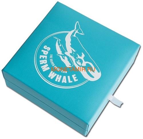 Новая Зеландия 1 доллар 2018 Кашалот Кит (New Zealand 1$ 2018 Sperm Whale).Арт.000528655556/60 (фото, вид 3)