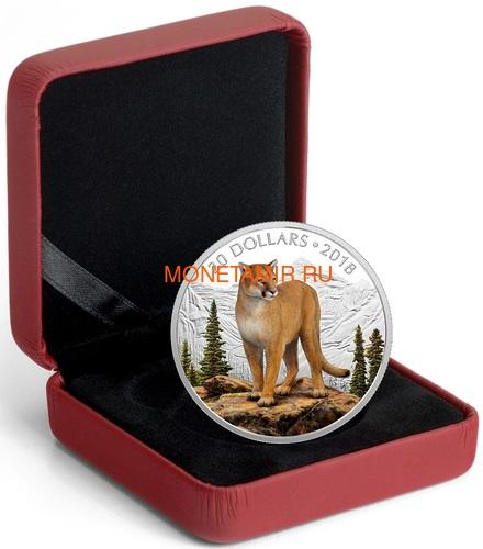 Канада 20 долларов 2018 Пума Величественные Животные (Canada 20C$ 2018 Courageous Cougar).Арт.000441155503/60 (фото, вид 2)
