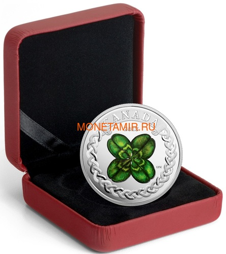 Канада 20 долларов 2018 Клевер (Canada 20C$ 2018 Lucky Four Leaf Clover).Арт.000441155497/60 (фото, вид 2)