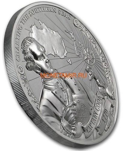 Острова Кука 3х5 долларов 2018 Капитан Кук Набор 3 монеты (Cook Isl. 3x5$ 2018 Captain Cook 3 coin Set Ship Ultra High Relief 1oz Silver Proof).Арт.60 (фото, вид 6)