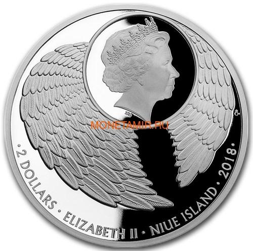 Ниуэ 2 доллара 2018 Ангел Хранитель Кристаллы на монетах (Niue 2$ 2018 Your Guardian Angel Czech Crystal Coins).Арт.000457855437/60 (фото, вид 1)