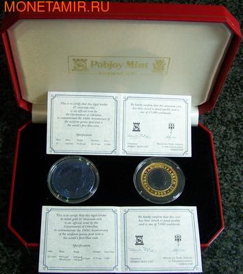 """Гибралтар 5 фунтов, 1/2 кроны 2000. Набор """"Марки"""" (фото, вид 1)"""
