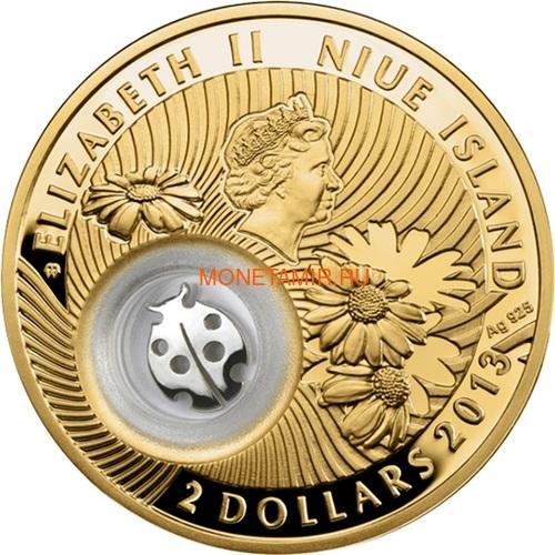 Ниуэ 2 доллара 2013 Божья Коровка Монеты на Удачу (Niue 2$ 2013 Lucky Coin Ladybug GPL).Арт.000330349047/60 (фото, вид 1)