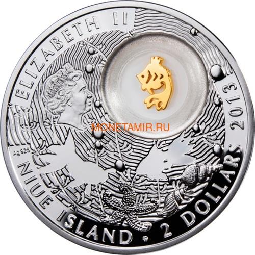 Ниуэ 2 доллара 2013 Золотая Рыбка Монеты на Удачу (Niue 2$ 2013 Lucky Coin Gold Fish).Арт.000330349057/60 (фото, вид 1)