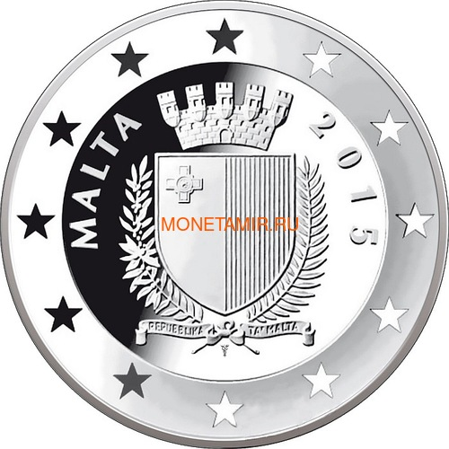 Мальта 10 евро 2015 Буш и Горбачев Саммит на Мальте Падение Железного Занавеса (Malta 10E 2015 M.Gorbachev & G.Bush Fall of the Iron Curtain).Арт.000427555554/60 (фото, вид 1)