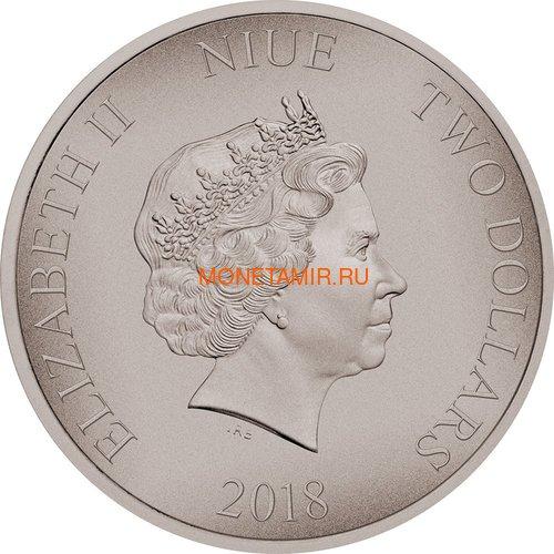 Ниуэ 2 доллара 2018 Битва за Мидуэй (Niue 2$ 2018 Battle of Midway Battles That Changed History).Арт.60 (фото, вид 1)