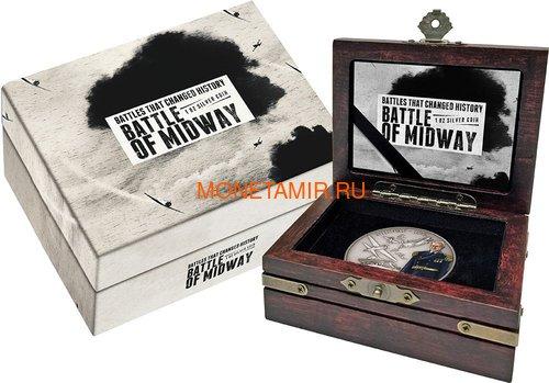 Ниуэ 2 доллара 2018 Битва за Мидуэй (Niue 2$ 2018 Battle of Midway Battles That Changed History).Арт.60 (фото, вид 2)
