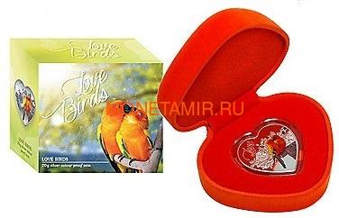 Токелау 1 доллар 2018 Любовь Попугаи Сердце (Tokelau 1$ 2018 Love Parrots Bird Heart Shaped).Арт.000462256510/60 (фото, вид 3)