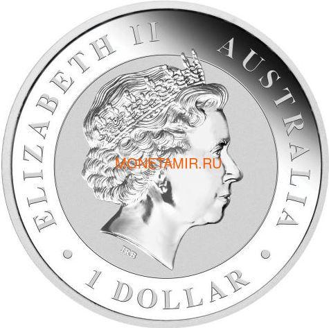 Австралия 1 доллар 2018 Кукабарра Луна Всемирная денежная ярмарка (Australia 1$ 2018 Kookaburra Moon Space World Money Fair Coin).Арт.000287655466/60 (фото, вид 1)