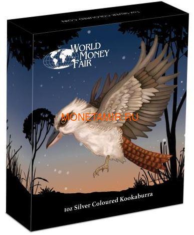 Австралия 1 доллар 2018 Кукабарра Луна Всемирная денежная ярмарка (Australia 1$ 2018 Kookaburra Moon Space World Money Fair Coin).Арт.000287655466/60 (фото, вид 3)
