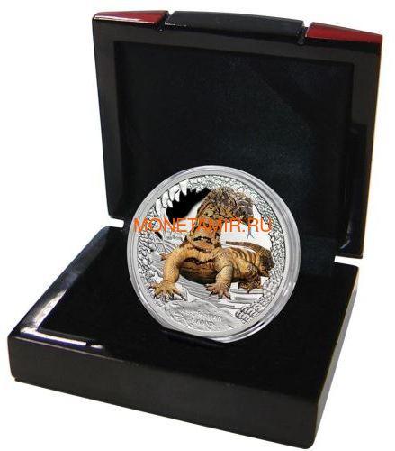 Тувалу 1 доллар 2016 Ящерица Варан Замечательные Рептилии (Tuvalu 1$ 2016 Goanna Remarkable Reptiles 1oz Silver Coin).Арт.000412652666/60 (фото, вид 2)