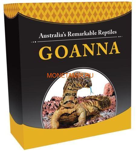 Тувалу 1 доллар 2016 Ящерица Варан Замечательные Рептилии (Tuvalu 1$ 2016 Goanna Remarkable Reptiles 1oz Silver Coin).Арт.000412652666/60 (фото, вид 4)