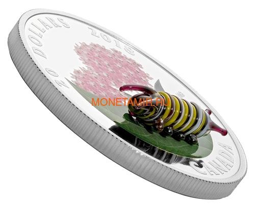 Канада 20 долларов 2018 Гусеница Муранское стекло (Canada 20C$ 2018 Murano Glass Caterpillar).Арт.60 (фото, вид 1)