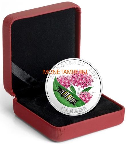 Канада 20 долларов 2018 Гусеница Муранское стекло (Canada 20C$ 2018 Murano Glass Caterpillar).Арт.60 (фото, вид 3)