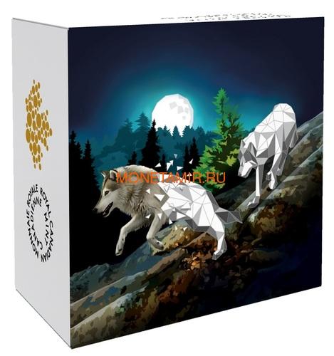 Канада 20 долларов 2018 Волки Геометрическая Фауна (Canada 20C$ 2018 Geometric Fauna Grey Wolves).Арт.60 (фото, вид 3)