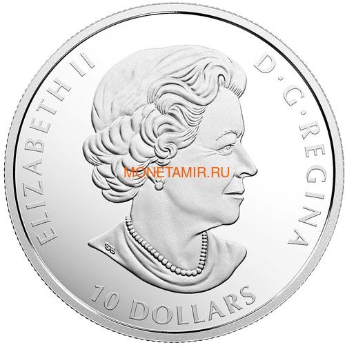 Канада 10 долларов 2018 Гагара Красота и Грация (Canada 10C$ 2018 Common Loon Beauty and Grace).Арт.60 (фото, вид 1)