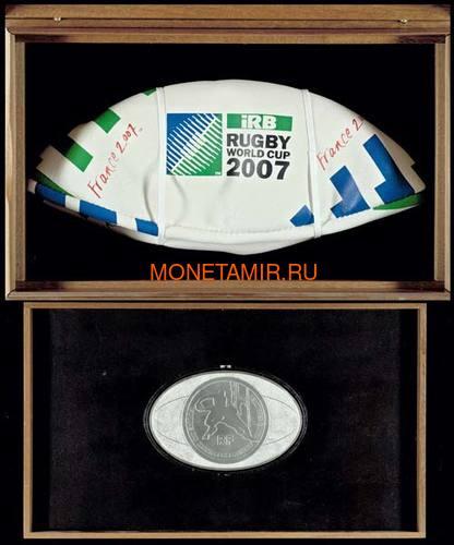 Франция 50 евро 2007 Регби Чемпионат Мира Килограмм (France 50E 2007 World Cup Rugby 1kg).Арт.003778612599 (фото, вид 2)