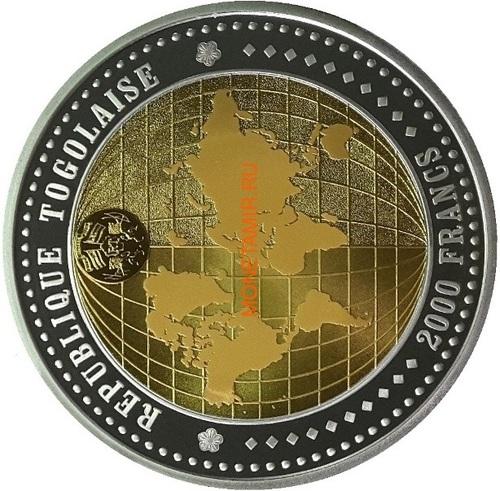 Того 1000+1000+2000 франков 2004 Год Обезьяны Лунный Календарь Голограмма Набор 3 монеты (Togo 1000+1000+2000 Francs 2004 Year of the Monkey Lunar Calendar Hologram 3 coin set).Арт.0900000028/60 (фото, вид 3)