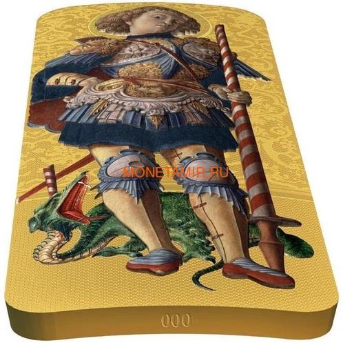 Ниуэ 5 долларов 2014 Икона Святой Георгий Карло Кривелли (Позолота).Арт.000927249014 (фото, вид 2)
