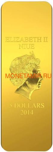 Ниуэ 5 долларов 2014 Икона Святой Георгий Карло Кривелли (Позолота).Арт.000927249014 (фото, вид 3)