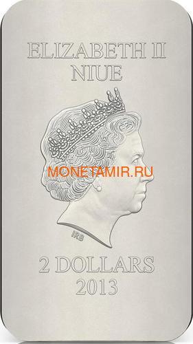 Ниуэ 2 доллара 2013 Феодоровская Икона Божией Матери серия Православные Святыни (Oxidized).Арт.000463649025 (фото, вид 2)