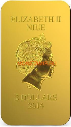 Ниуэ 2 доллара 2014 Феодоровская Икона Божией Матери серия Православные Святыни (Позолота).Арт.000463649028 (фото, вид 3)