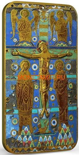 Ниуэ 2 доллара 2014 Икона Распятие Иисуса Христа серия Православные Святыни (Позолота).Арт.000492649033 (фото, вид 1)