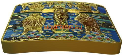 Ниуэ 2 доллара 2014 Икона Распятие Иисуса Христа серия Православные Святыни (Позолота).Арт.000492649033 (фото, вид 2)