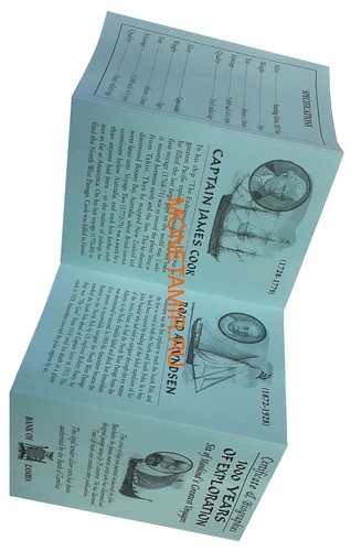 Замбия 6х4000 квач 2000 Корабли Мореплаватели Сэр Фрэнсис Дрейк Джеймс Кук Марко Поло Лейф Эриксон Руаль Амундсен Христофор Колумб Набор 6 монет (Zambia 6x4000Sh 2000 Ship Oval Set Millennium Collection 1000 Years of Exploration).Арт.001891555451/60 (фото, вид 8)