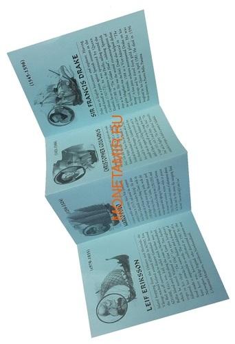 Замбия 6х4000 квач 2000 Корабли Мореплаватели Сэр Фрэнсис Дрейк Джеймс Кук Марко Поло Лейф Эриксон Руаль Амундсен Христофор Колумб Набор 6 монет (Zambia 6x4000Sh 2000 Ship Oval Set Millennium Collection 1000 Years of Exploration).Арт.001891555451/60 (фото, вид 9)