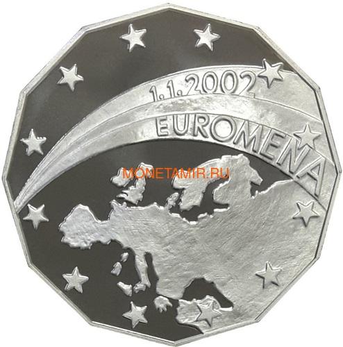 Словакия евро 2002 Меркурий Медаль (Slovakia Euro 2002 Mercury Silver Medal).Арт.000215043686/60 (фото, вид 1)