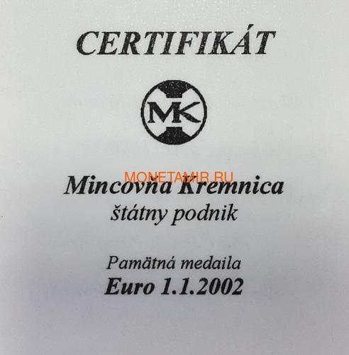 Словакия евро 2002 Меркурий Медаль (Slovakia Euro 2002 Mercury Silver Medal).Арт.000215043686/60 (фото, вид 3)