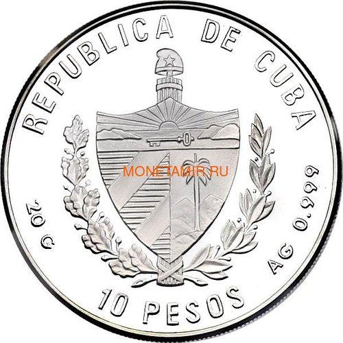 Куба 10 песо 1996 Птица Колибри Карибская Фауна (Cuba 10 pesos 1996 Caribbean Fauna Hummingbirds).Арт.60 (фото, вид 1)