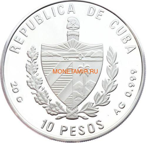 Куба 10 песо 1996 Утка Pato Huyuyo Карибская Фауна (Cuba 10 pesos 1996 Caribbean Fauna Pato Huyuyo).Арт.60 (фото, вид 1)