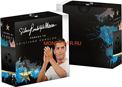 Соломоновы острова 5 долларов 2018 Криштиану Роналду Легенды Спорта (Solomon Islands 5$ 2018 Cristiano Ronaldo Legends of Sports).Арт.60 (фото, вид 4)