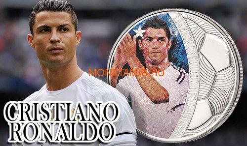 Соломоновы острова 5 долларов 2018 Криштиану Роналду Легенды Спорта (Solomon Islands 5$ 2018 Cristiano Ronaldo Legends of Sports).Арт.60 (фото, вид 5)