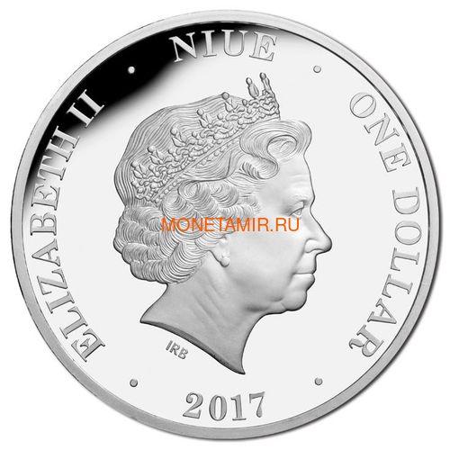 Ниуэ 4х1 доллар 2017 Вторая Мировая Война Австралия Набор 4 монеты (2017 $1 WWII Defending a Nation 4 Coin Set).Арт.60 (фото, вид 1)