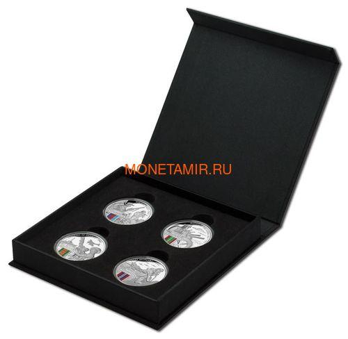 Ниуэ 4х1 доллар 2017 Вторая Мировая Война Австралия Набор 4 монеты (2017 $1 WWII Defending a Nation 4 Coin Set).Арт.60 (фото, вид 2)