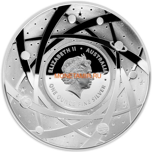 Австралия 5 долларов 2018 Земля серия За Пределами Земли Выпуклая (Australia 2018 $5 The Earth and Beyond the Earth Silv Proof Domed Coin).Арт.92 (фото, вид 2)